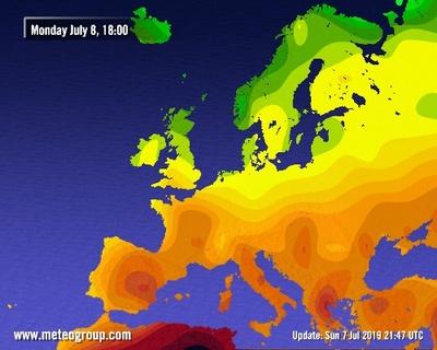 Carte Meteo Europe Aujourdhui.Meteo En Belgique Et Previsions Meteo A 10 Jours Skynet Be