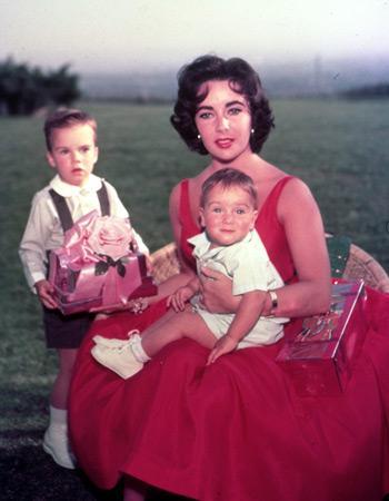Liz taylor et ses enfants